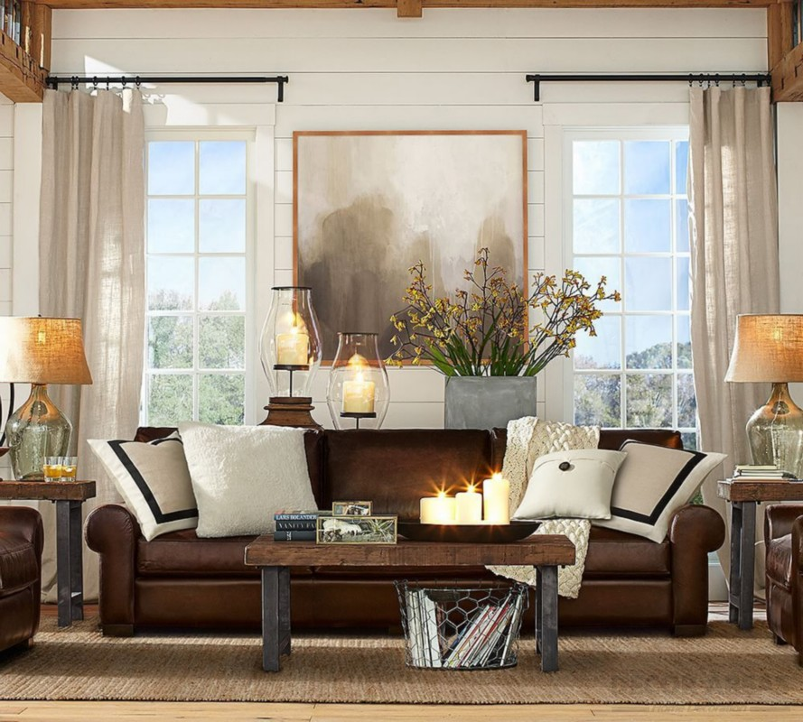 Curtains to Match Brown Sofa