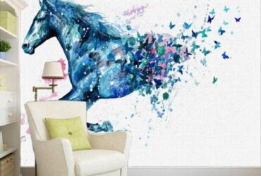 Horse painting wall covering
