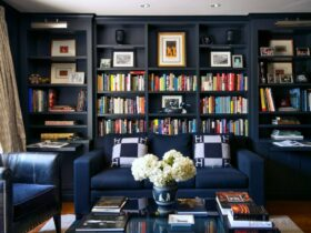 How to Decorate a Blue Library