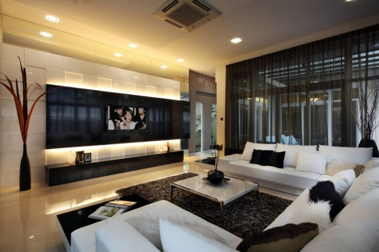 Decoration for Large Square Living Room