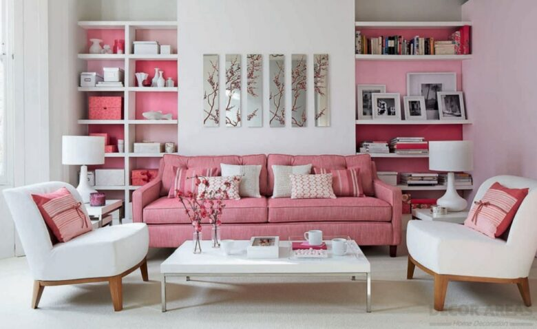 Powder Pink Living Room