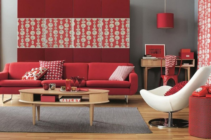 Stylish Red Living Rooms Design