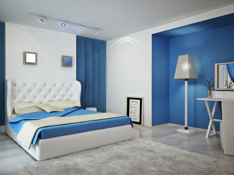 Bedroom Blue wall decoration