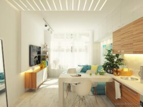 12 Square Meters Living Room Decoration