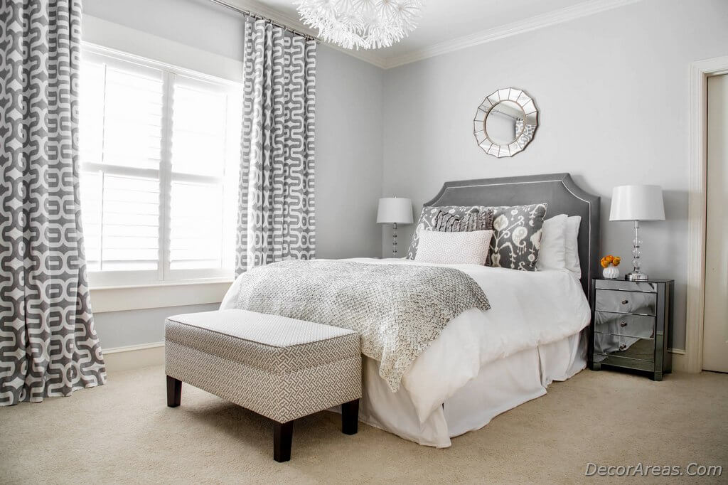 Bedroom with Gray Walls