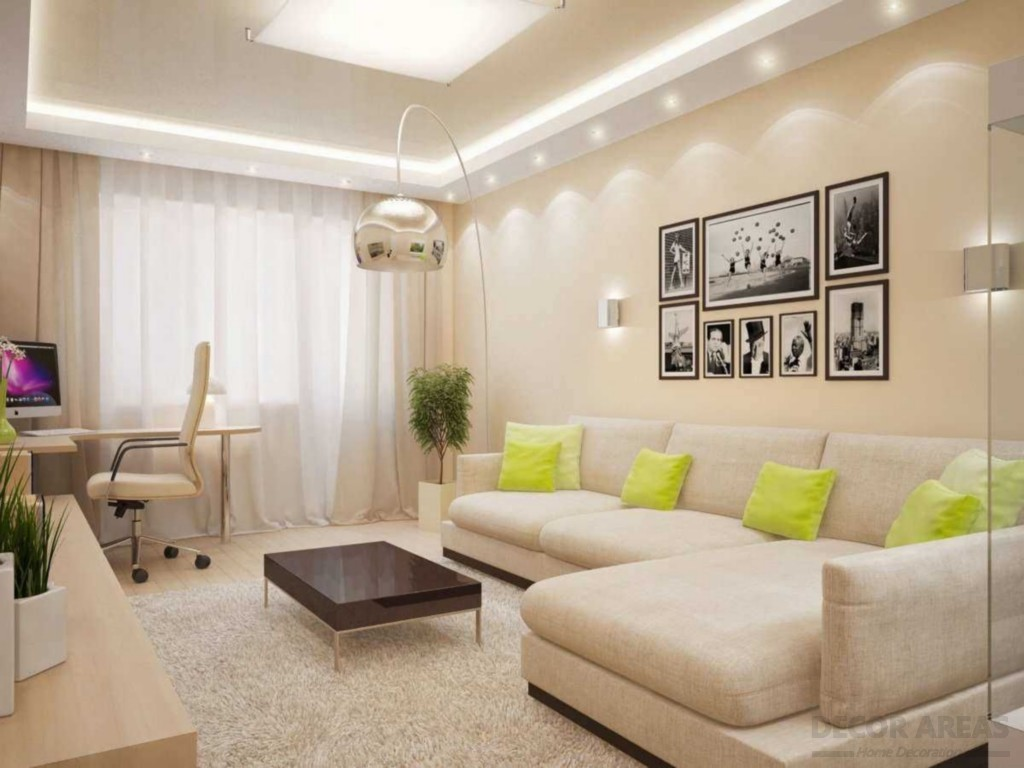 Beige Living Room Today's Trendy