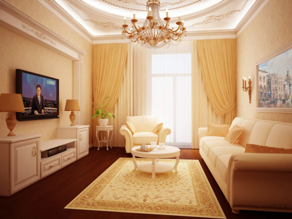 Color Scale of Beige Living Room Decoration