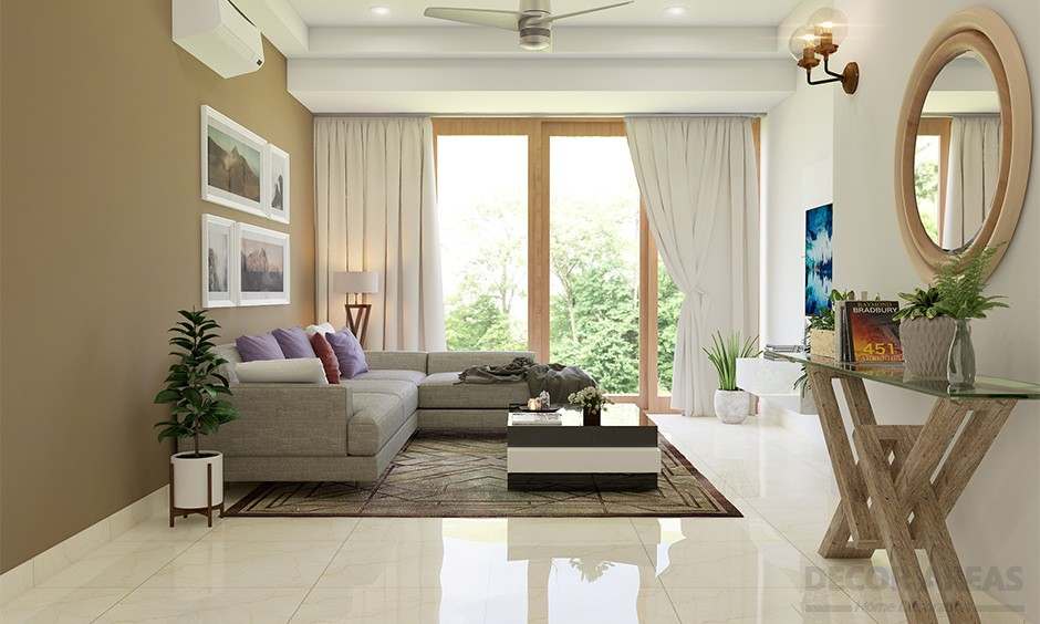 Beige Living Room Decoration