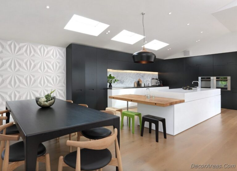 Black White Kitchen Islan