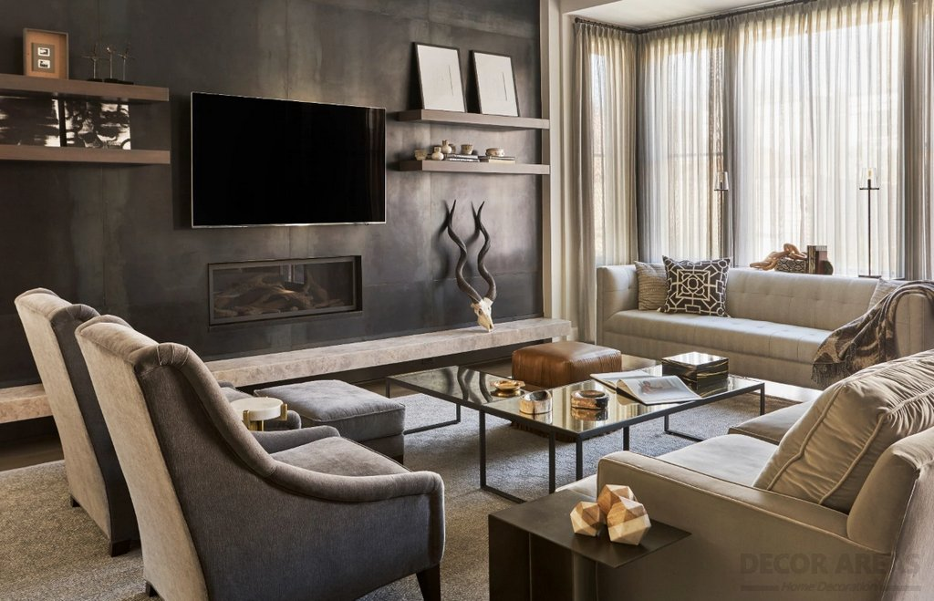 Harmony in Brown Living Room Decoration Models