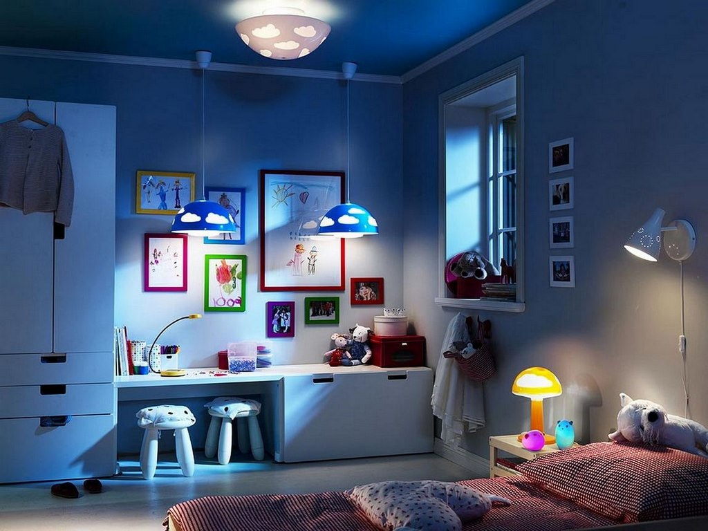 Creative Kids Room Lighting Ideas With Leds Home And Garden Decoration