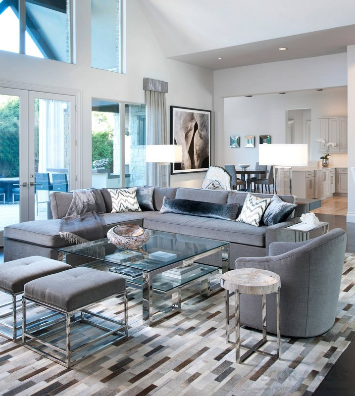 Gray Furnished Living Room