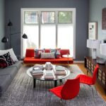 Gray And Red Living Room Decoration