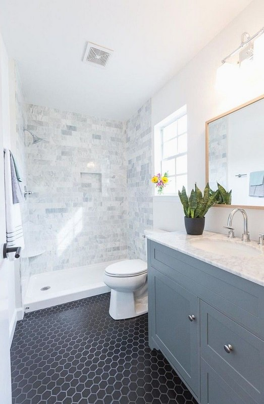 Patterned Tiles For The Small Bathroom
