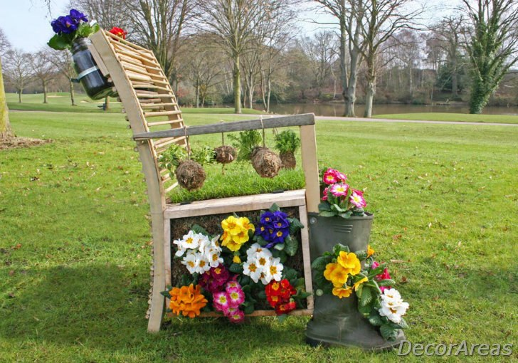 Living Garden Chair Made From Recycled Furniture