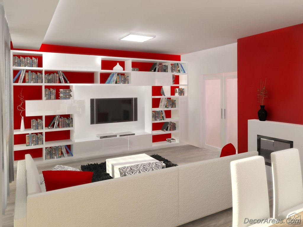 Living Room Decoration: Red