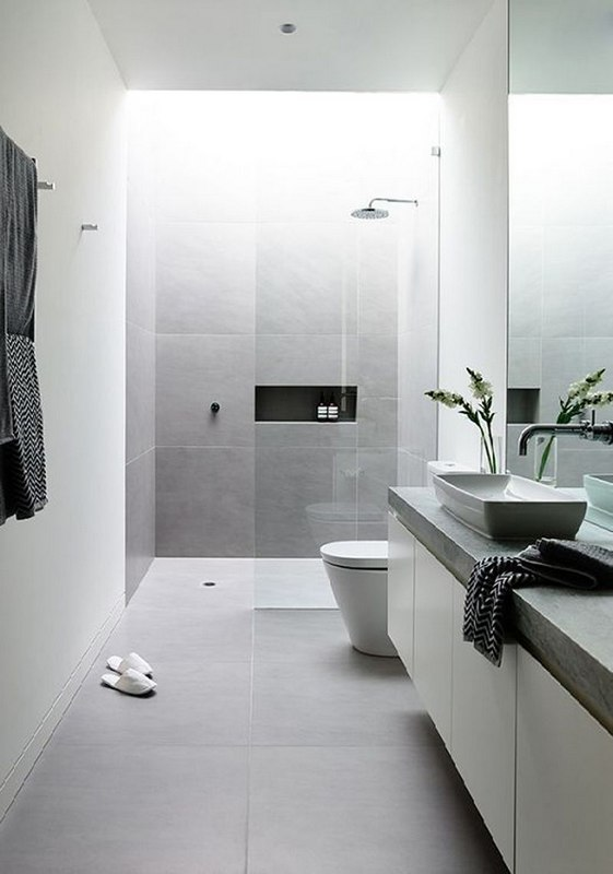 Small And White Bathroom