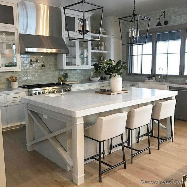 Vintage Farmhouse Kitchen Island