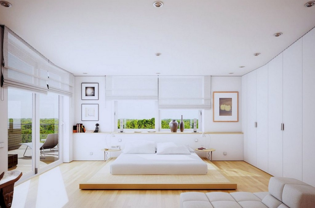 Small And White Bedroom Decoration