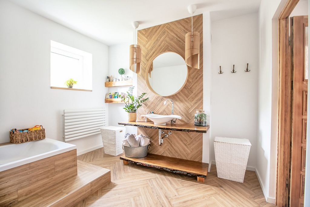 Bathroom Wall Wood Usage