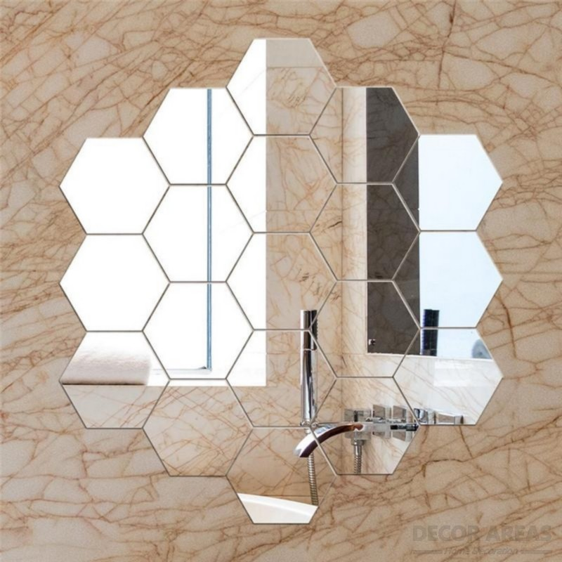 Honeycomb Shaped Decorative Mirror