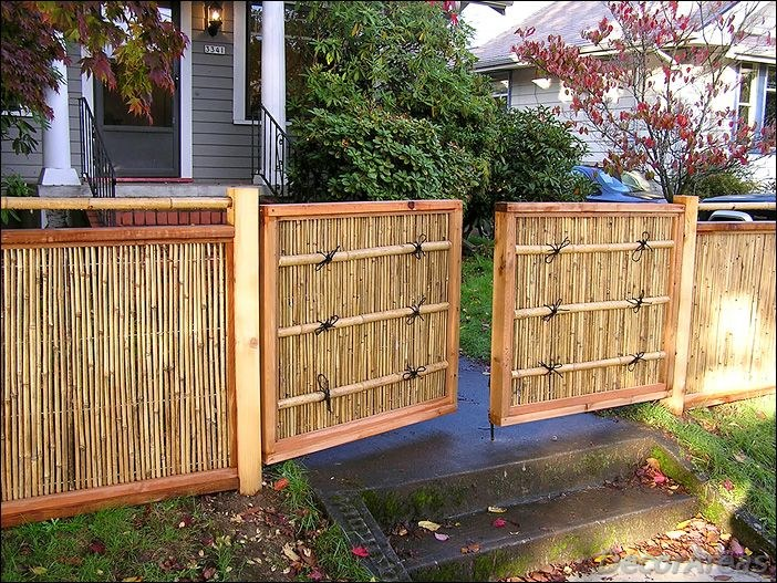 Gate Made Of Bamboo