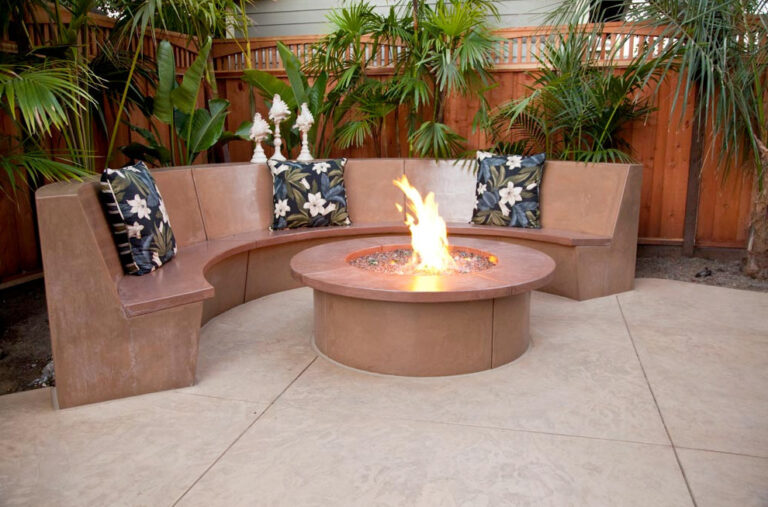 Bench-Style Seating For Fire Pit