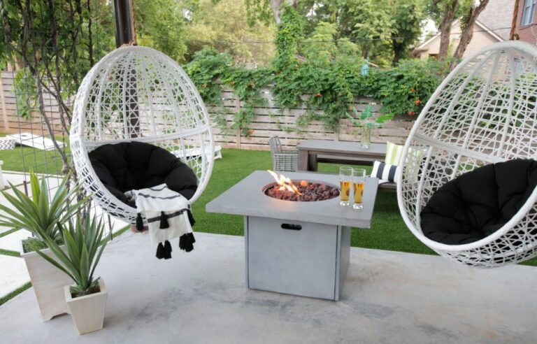 Hanging Chairs Ideas For Fire Pit