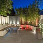 Modern Outdoor Courtyard Design with Led Lighting
