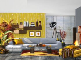 Amber Living Room Decoration