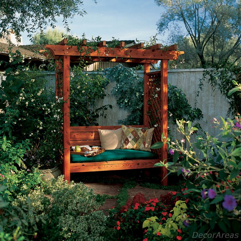 Arbor With Bench For Garden