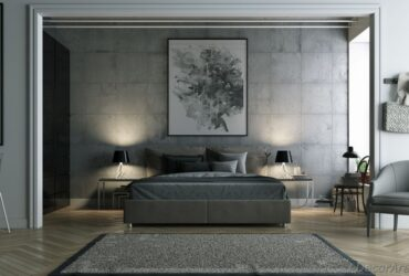 Authentic Gray Bedroom Decoration