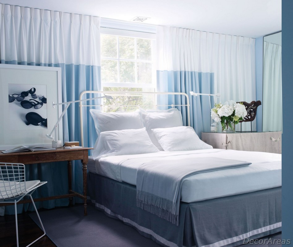 Blue Color Bedroom Decoration