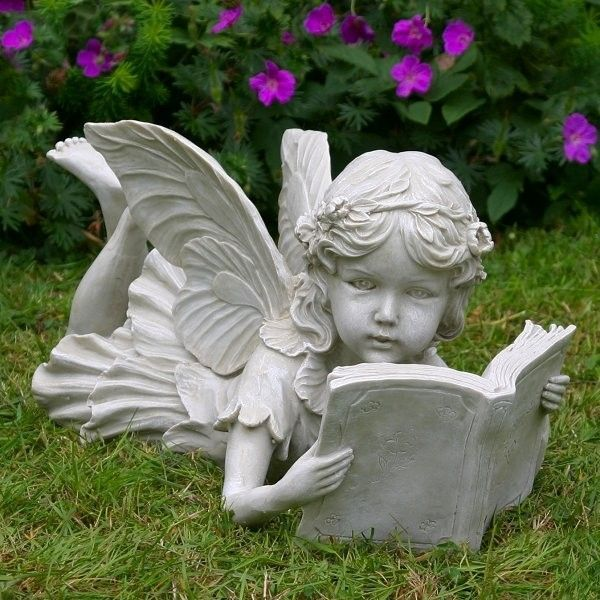 Book Reading Angel Statue