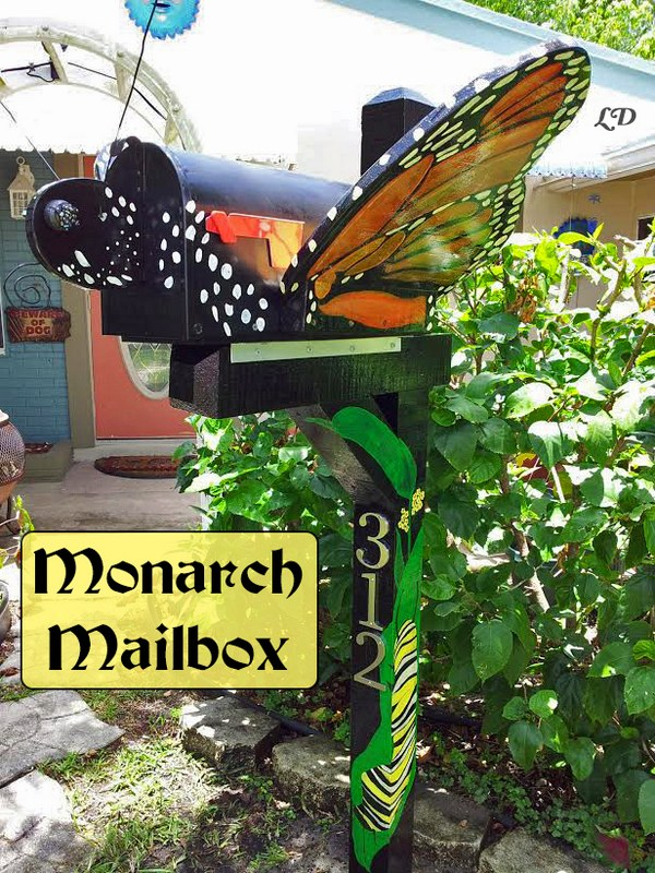 Low Budget Butterfly Shaped Mailbox