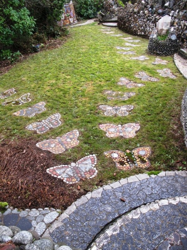 Butterfly Shaped Stepping Stones