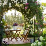 Classic Country Garden Seating Area