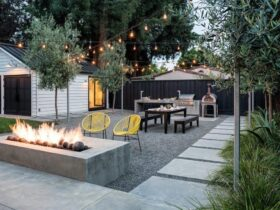 Fire Pit Modern Patio