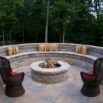 Firepit With Stone Wall Seating