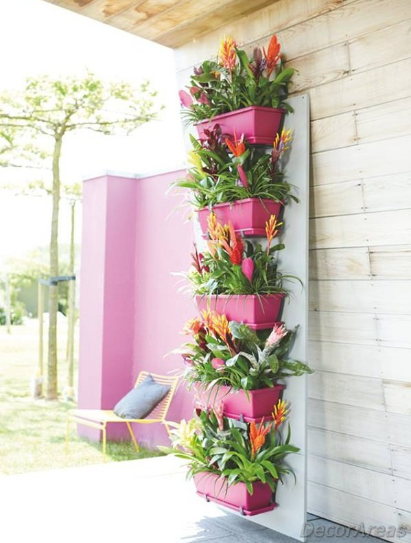 Flower Tower Made with Flower Pots