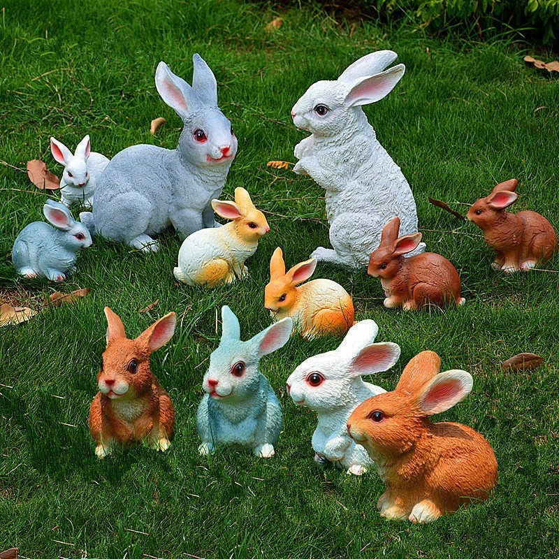 Garden Rabbit Sculptures