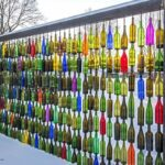 Garden Wall With Glass Bottles