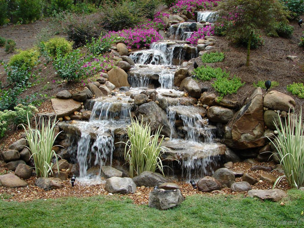 Garden Waterfall Without Pond