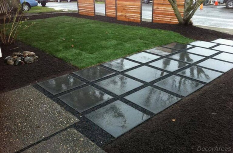 Glossy Concrete Pathway