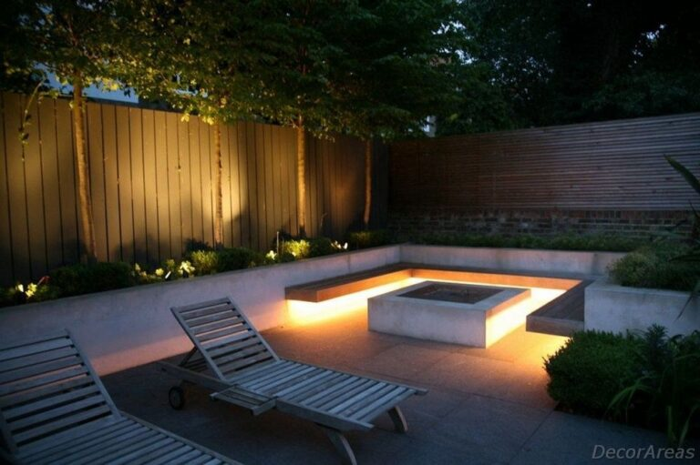 Led Strip Lights And Fire Pit Ideas