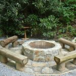 Log Benches Fire Pit