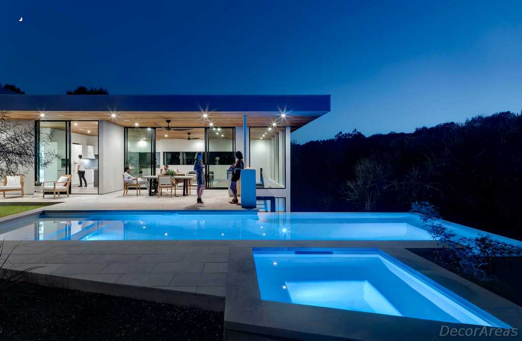 Modern House Pool Area