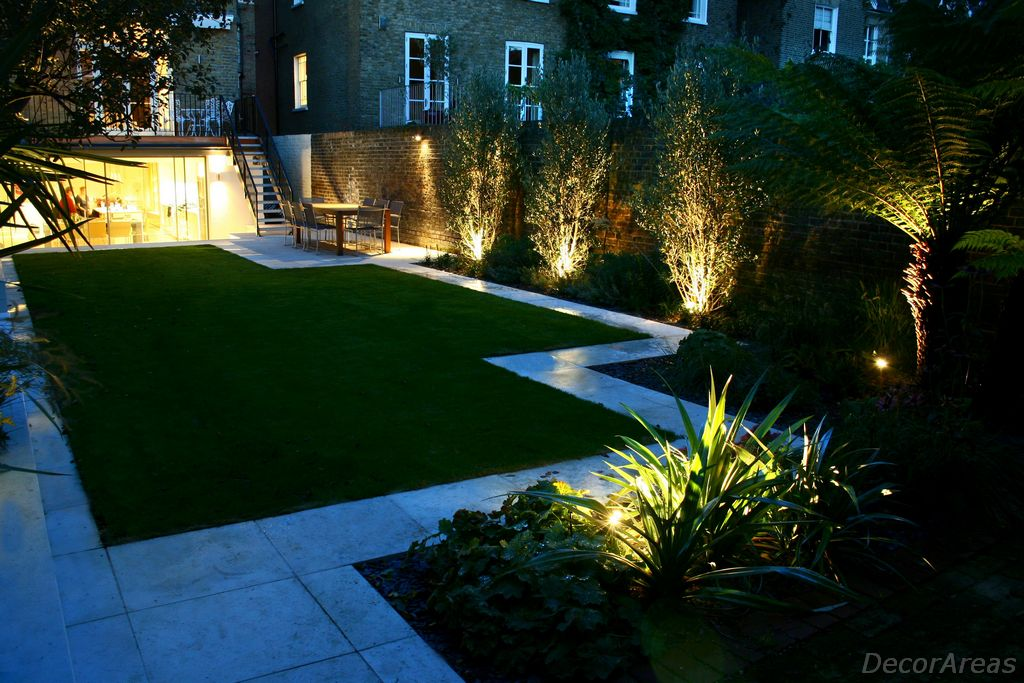 Decorative Modern backyard lighting