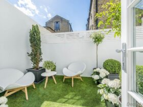 Painting small garden walls