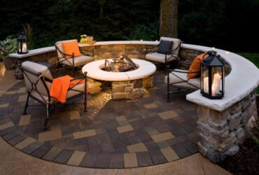 Patio Fire Pit Decoration